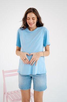 Футболка для беременных и кормящих 3170042 голубой