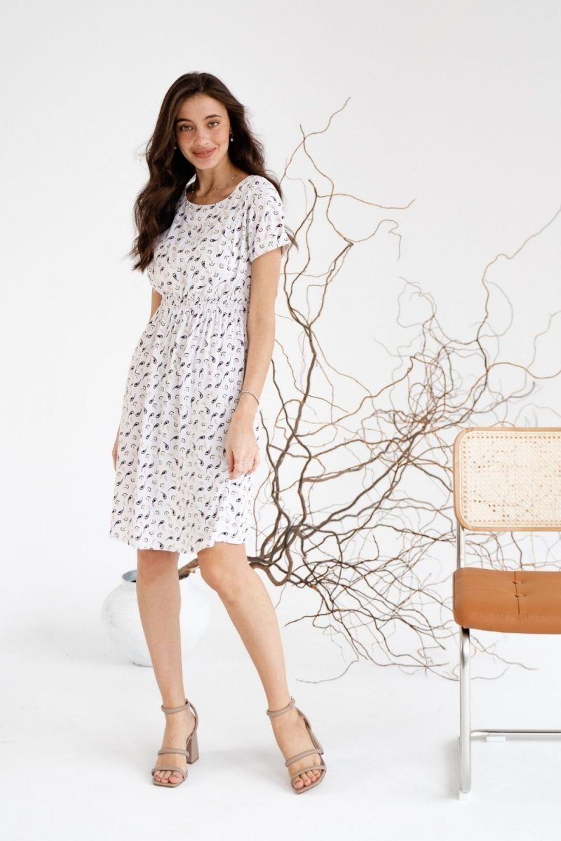 Платье для беременных и кормящих 3178745 кремовый
