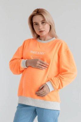 Свитшот для беременных и кормящих 4362114-78 оранжевый