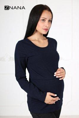 Лонгслив для беременных и кормящих Simple темно-синий