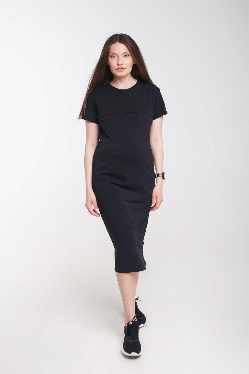 Платье для беременных и кормления Move черное