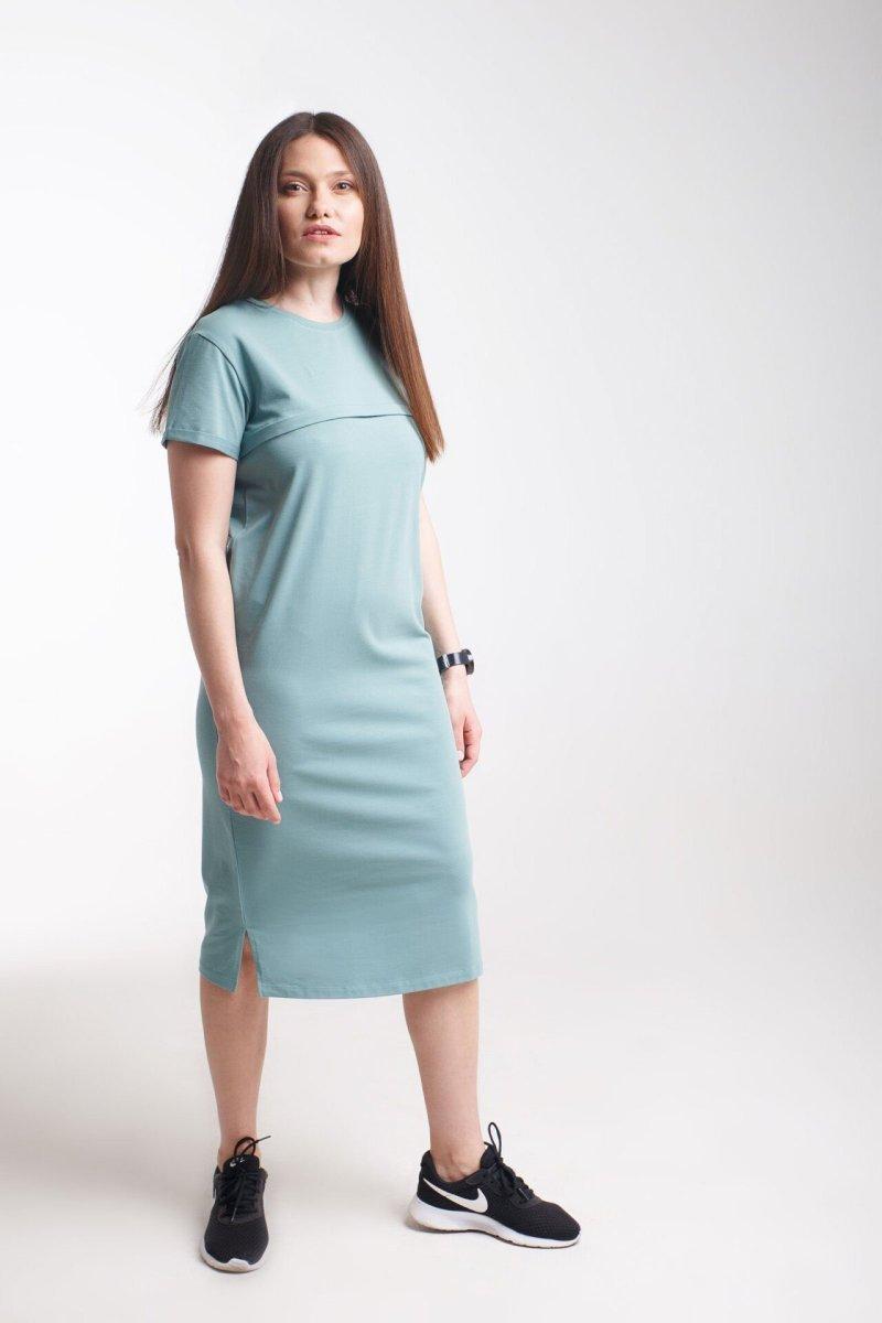Платье для беременных и кормления Move олива