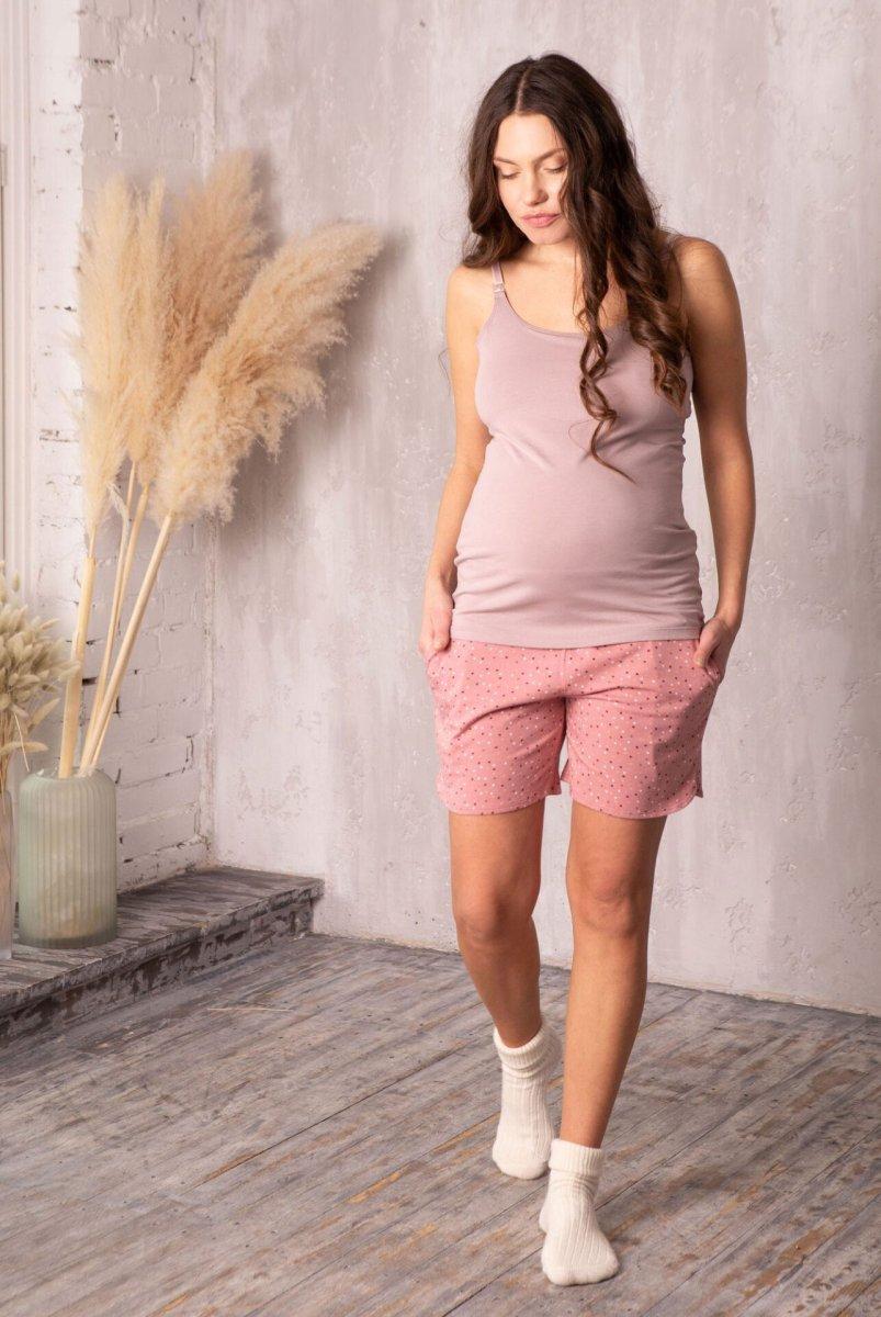 Комплект домашний для беременных и кормления Joy звездочка/пудра