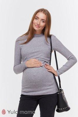 Гольф для беременных и кормящих Lecie warm серый