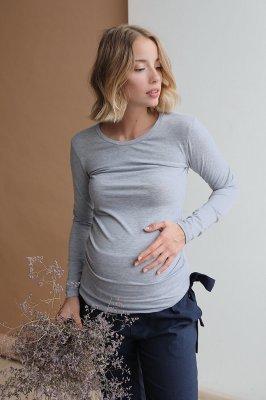 Джемпер для беременных 4024060 серый меланж