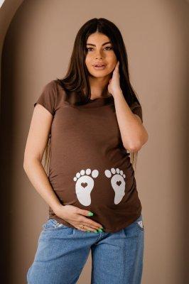 Футболка для беременных 4076041-51 мокко