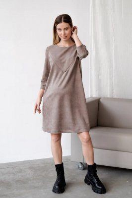 Сукня для вагітних і годуючих 4132140 коричневе