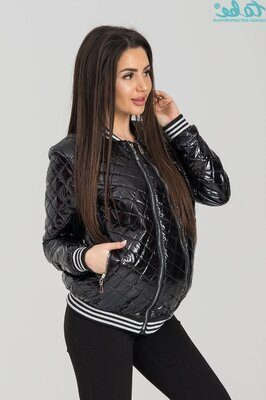 Куртка-бомбер для беременных 4166 черная