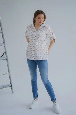 Джинсы для беременных 4191461 серо-голубой варка 1