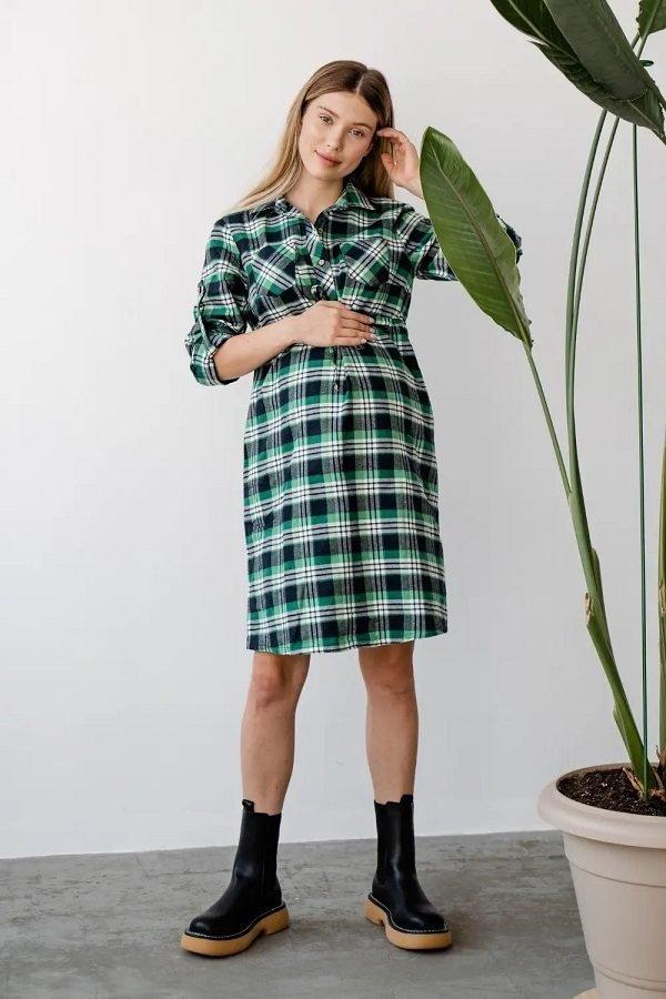 Платье для беременных 4206729 зелёный