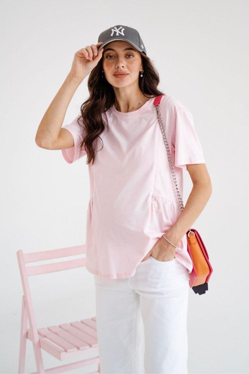 Футболка для беременных и кормящих 4234042 розовый