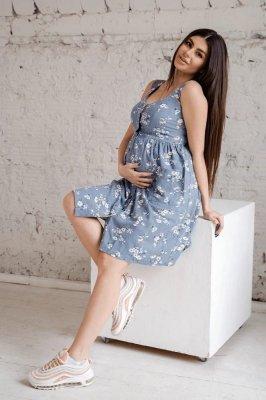 Сарафан для беременных 4262712 деним