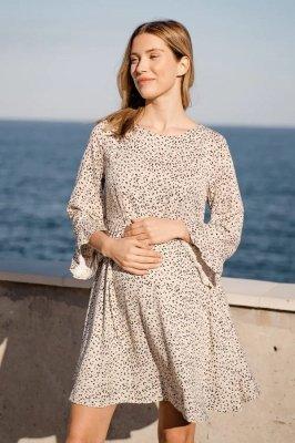 Платье для беременных и кормящих 4291734 кремовый