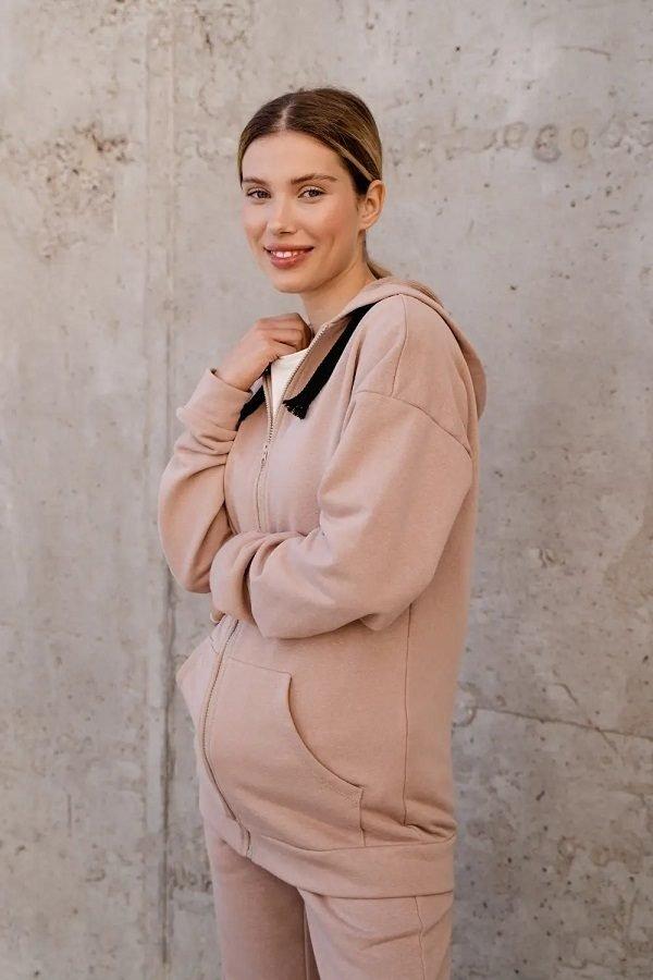 Джемпер для беременных 4304114 бежевый