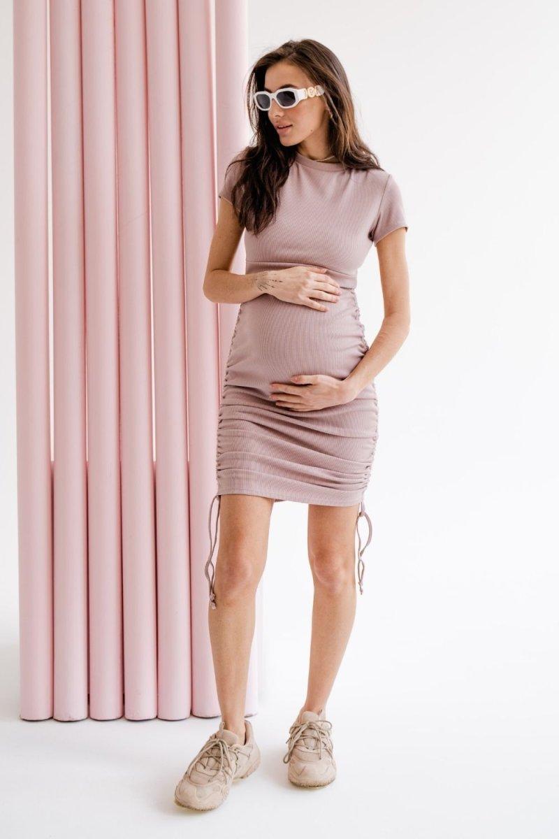 Платье для беременных и кормящих 4315138 розовый