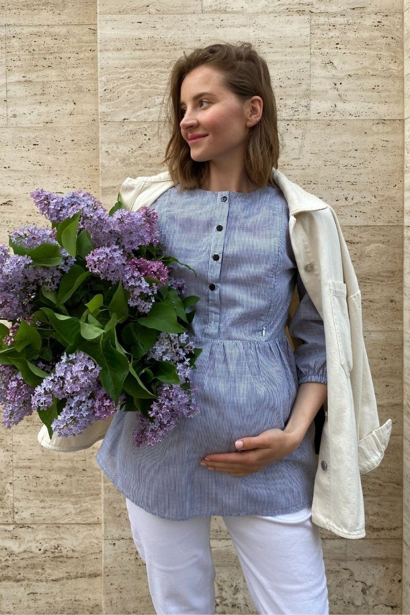 Блуза для беременных и кормящих 4317737 серый