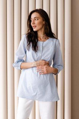 Блуза для вагітних і годуючих 4317737 Блакитний