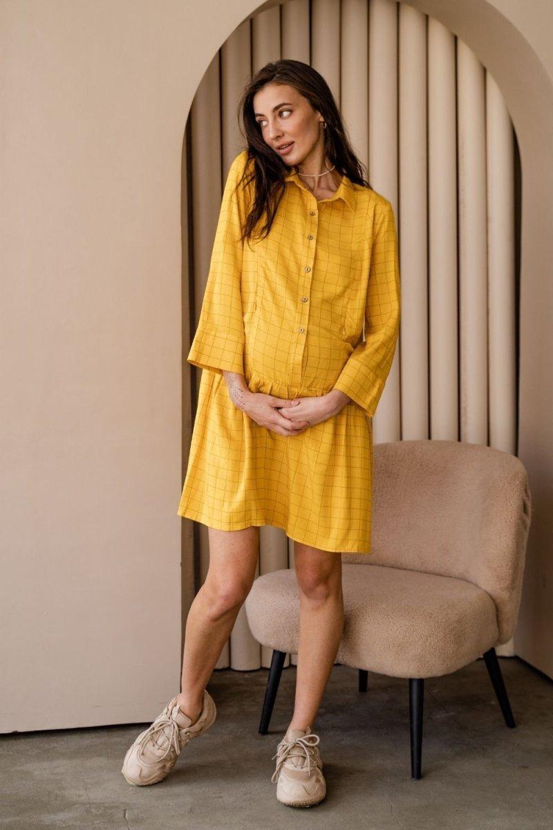 Сукня для вагітних і годуючих 4319738 жовтий