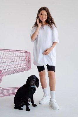 Футболка для беременных и кормящих 4332041 белый