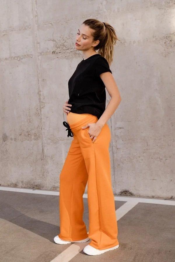 Спортивные штаны клеш для беременных 4353114-4 оранжевый