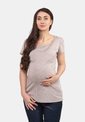 Футболка для беременных и кормящих (латте)