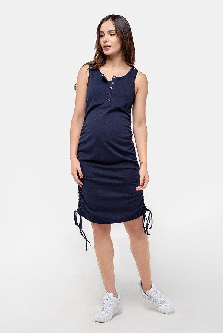 Сарафан-майка для вагітних і годуючих (темно-синій)