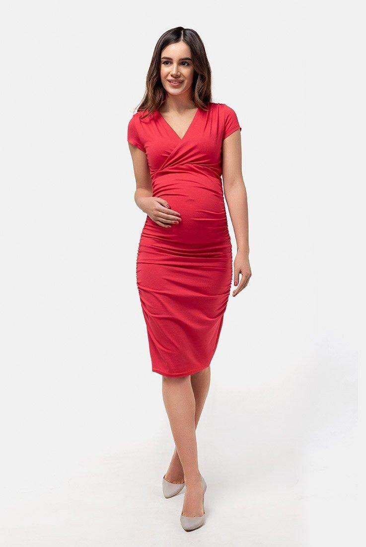 Плаття-футляр для вагітних і годуючих (червоний)