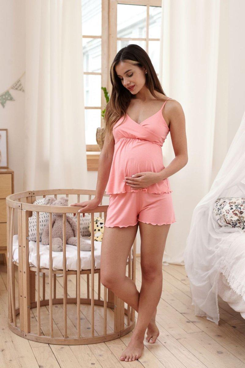 Пижама для беременных и кормящих Mirelle (коралл)