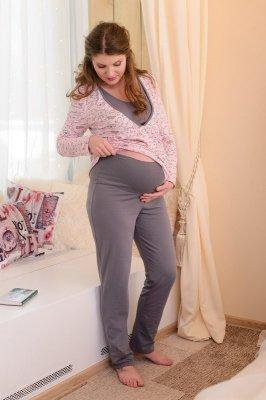 Пижама 812 розовая с серым