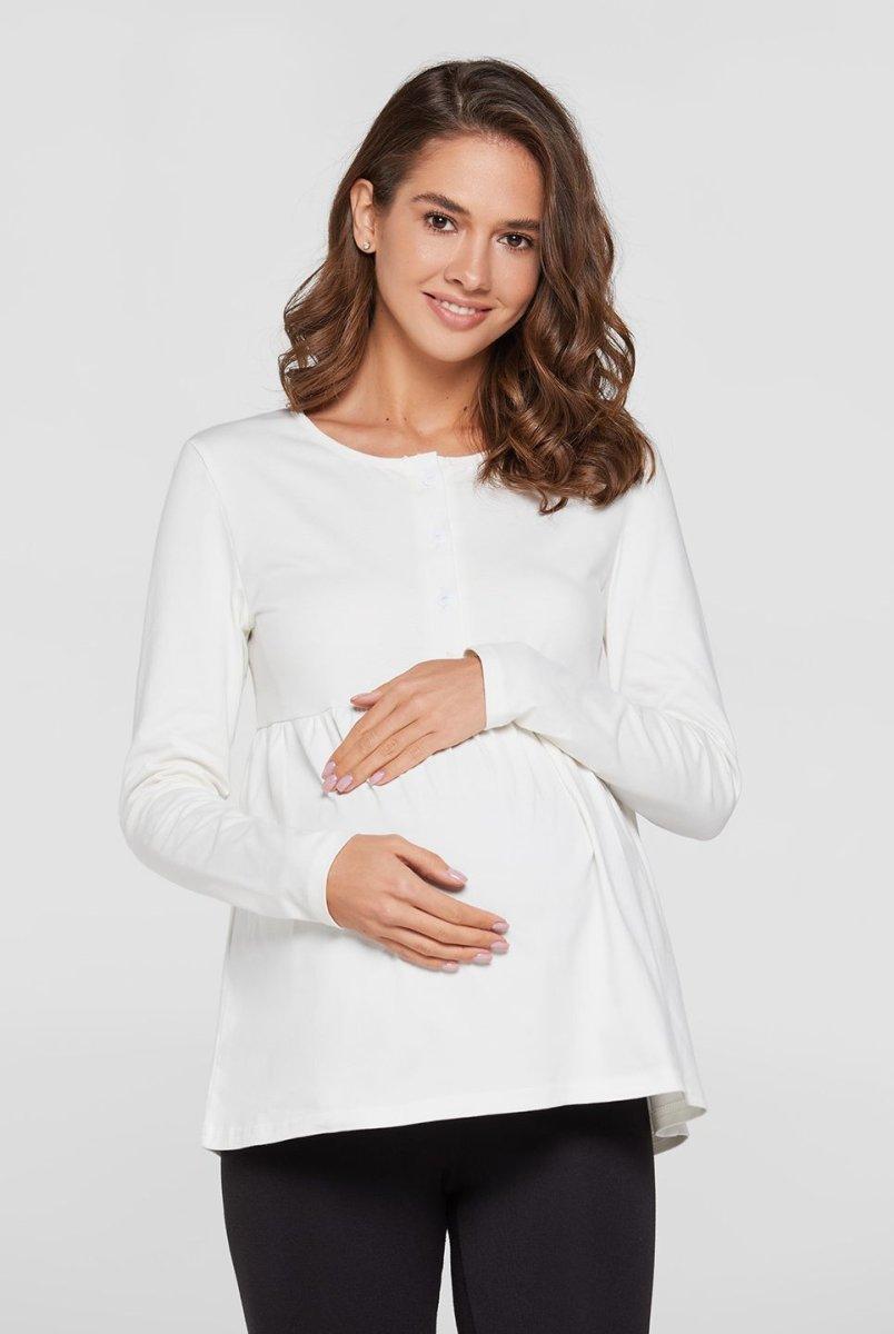 Кофта для беременных и кормящих мам Tallinn молочный