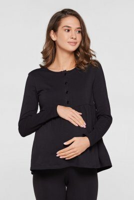 Кофта для беременных и кормящих мам Tallinn черный