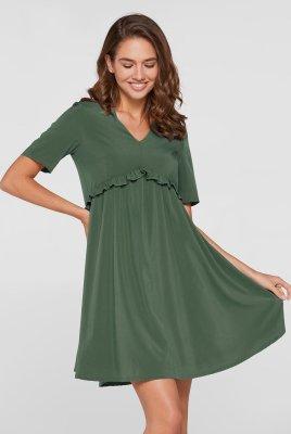 Летнее платье для беременных San-Paulu оливковый