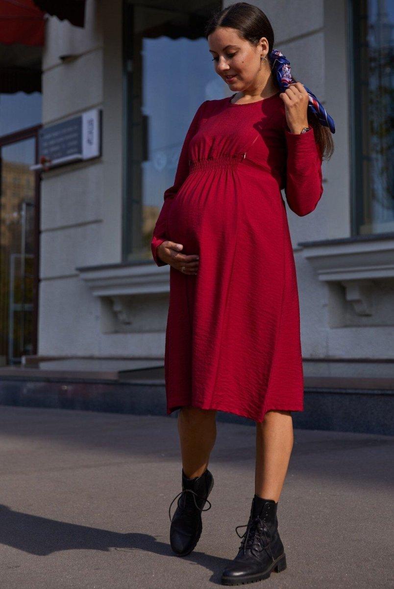 Платье для беременных и кормящих Corfu красный
