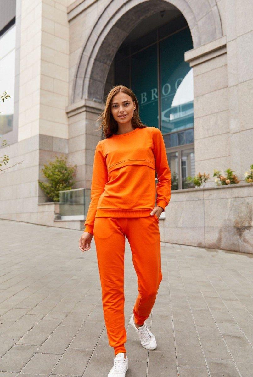 Спортивный костюм для беременных и кормящих мам Detroit оранжевый