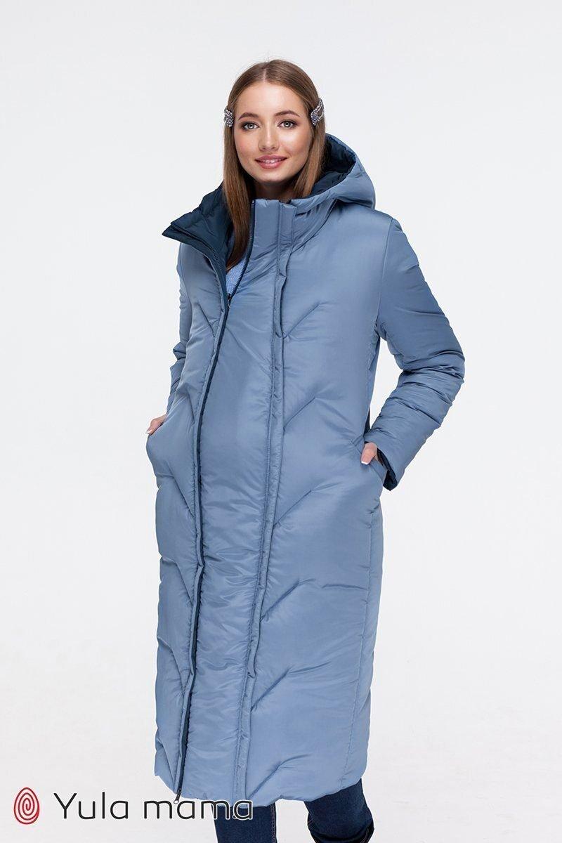 Пальто для беременных Tokyo синий+голубой