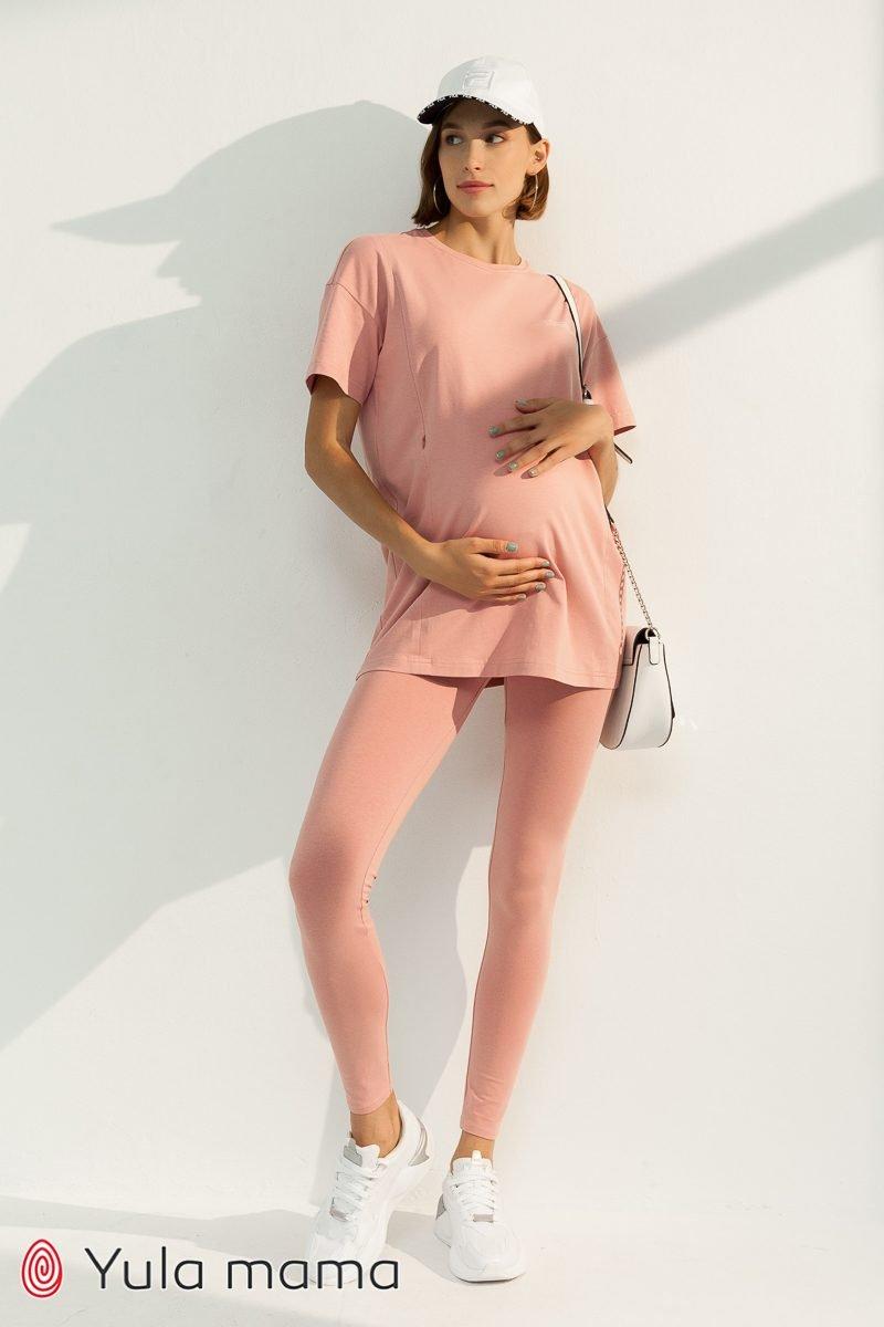 Молодежный костюм для беременных и кормящих Shannon роза