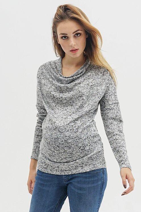Джемпер для беременных 754071 серый принт