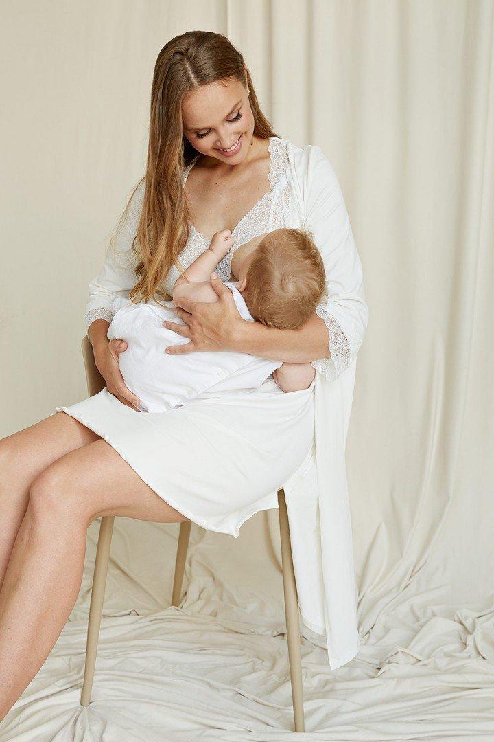 Халат для вагітних 2065 1366 молочний