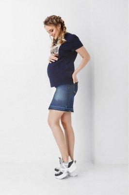 Юбка для беременных 1900 0032 синяя