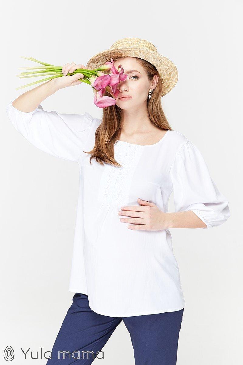 Туника для беременных и кормящих Giulietta белый