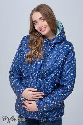 Короткая куртка для беременных синий sale