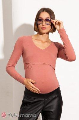Боди для беременных и кормящих Fleur темно-розовый