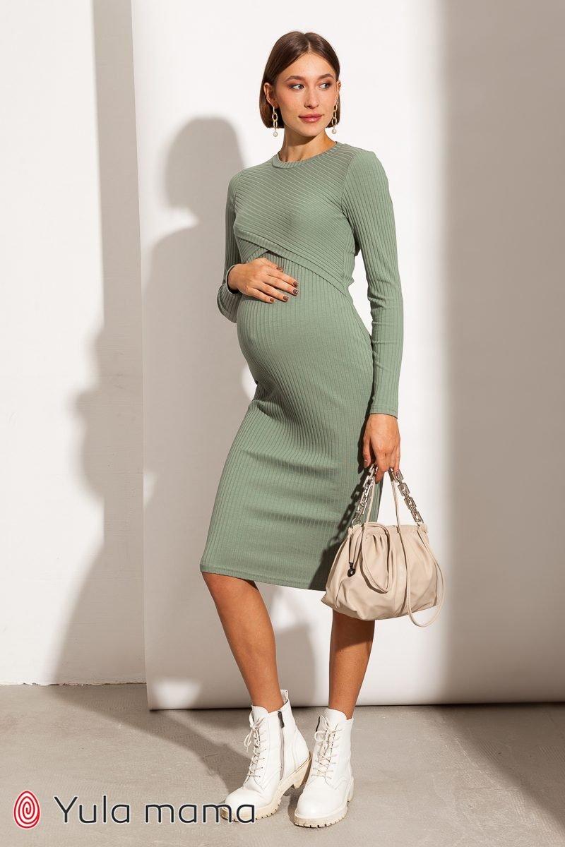 Сукня-гольф для вагітних і годуючих Lily new оливка