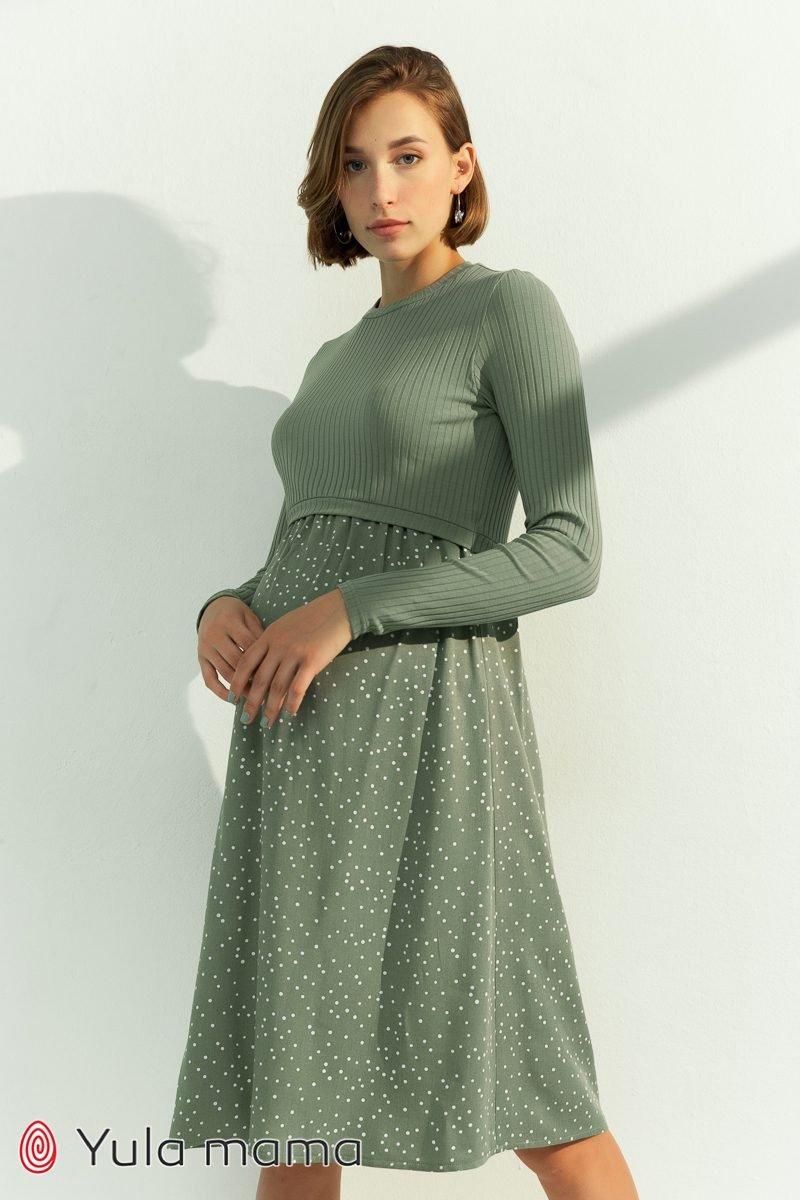 Сукня для вагітних і годуючих Paula оливка