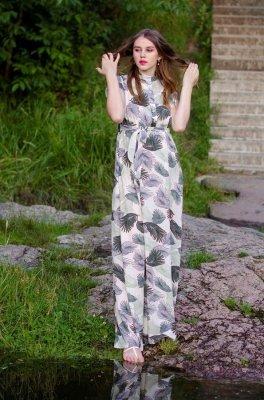 Платье для беременных и кормящих мам ариша (листья)