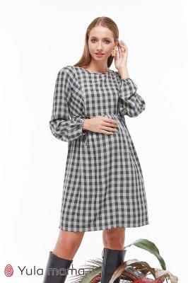 Платье для беременных и кормящих Loraine клетка хакки
