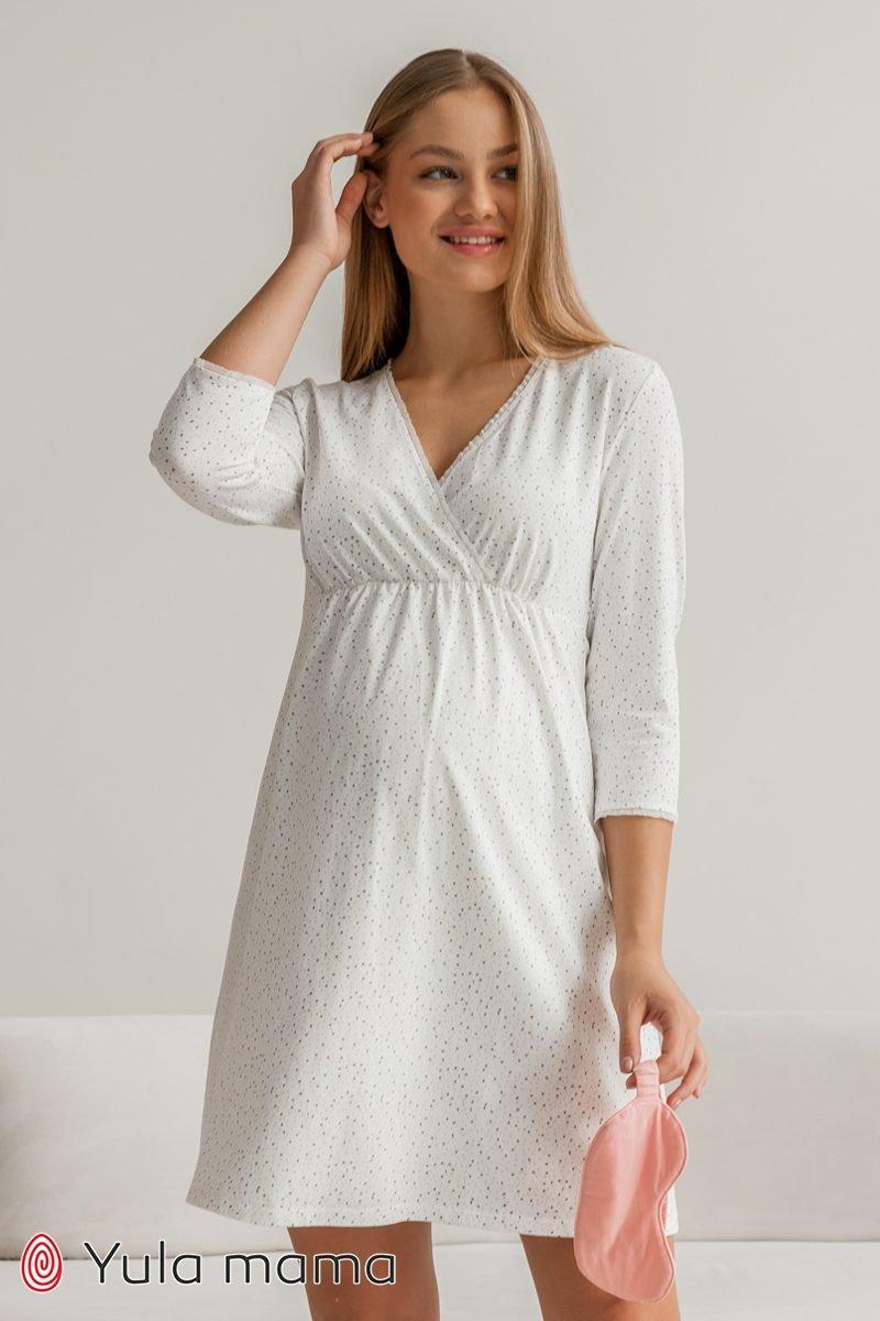 Нічна сорочка для вагітних і годуючих Alisa кольорові точки