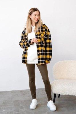 Рубашка для беременных 4368222 жёлтая