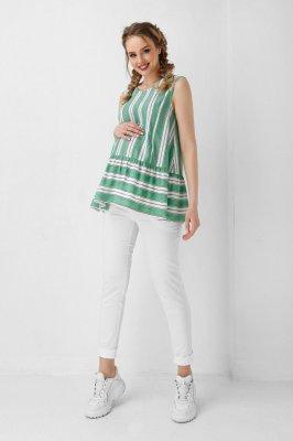 Блуза для беременных и кормящих 1944 1099 зеленая