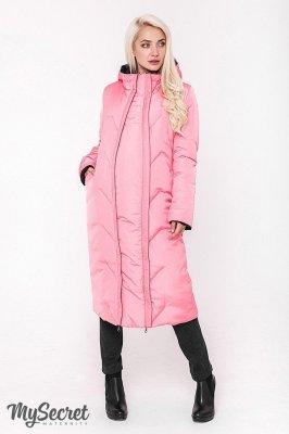 Пальто для беременных Tokyo черно-розовое